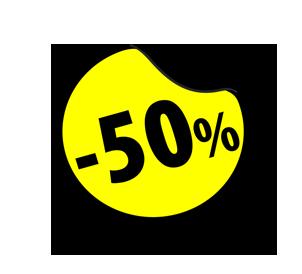 Rabat 50%